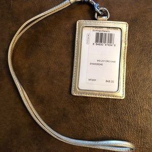 Coach card case with lanyard